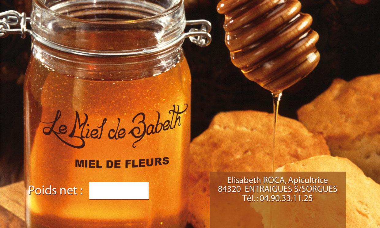 etiquettes pour des pots de miel creatix
